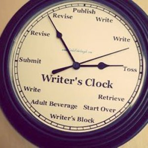 writers clock by Linda Rohrbough