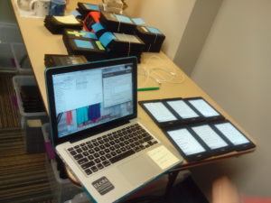 A glimpse of the hardware needed to load the e-readers